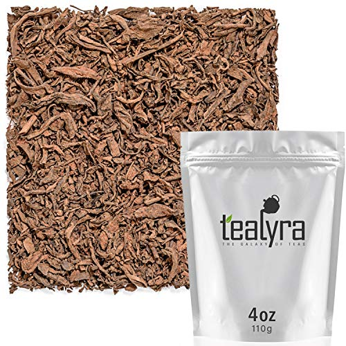 Tealyra - Pure Cocoa Pu'erh - Aged Loose Leaf - Chocolate Tea Blend - Decadent - All Natural - Caffeine Level High - Weight Loss Tea - Aged Black Tea Pu-Erh - 112g (4-ounce)