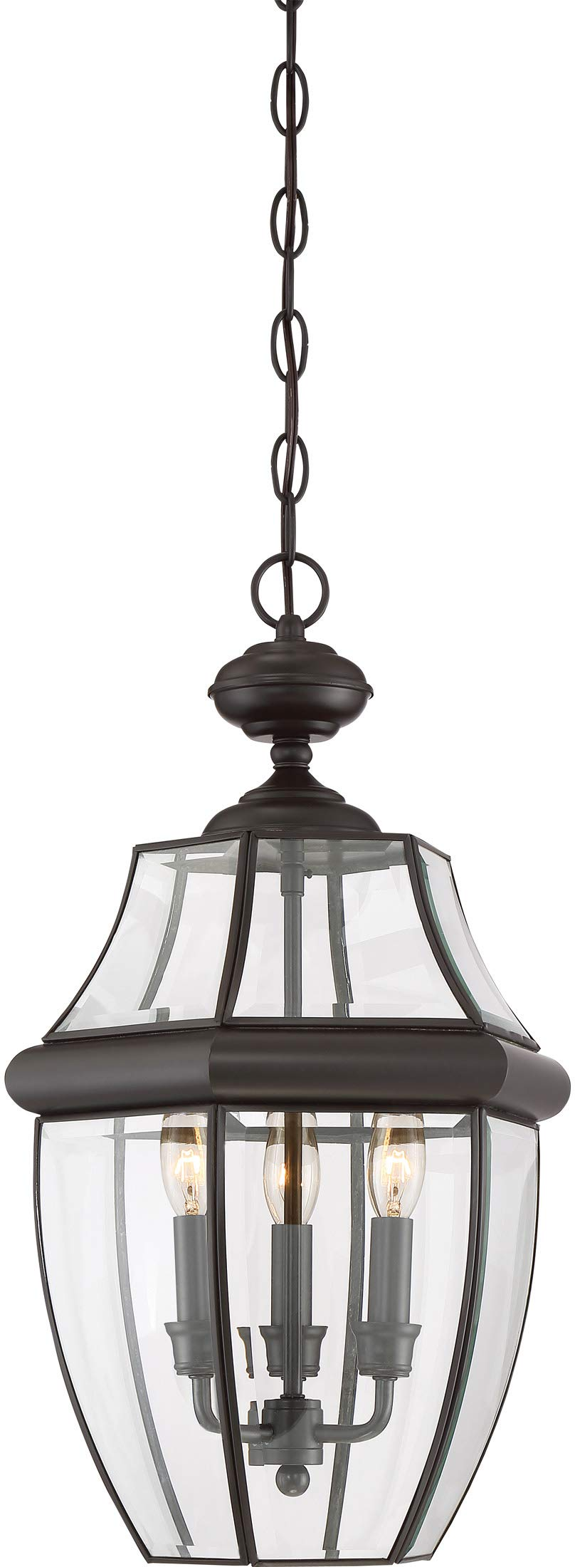 Quoizel NY1179Z Newbury Outdoor Pendant Lantern Ceiling Lighting, 3-Light, 180 Watts, Medici Bronze (21''H x 13''W) by Quoizel
