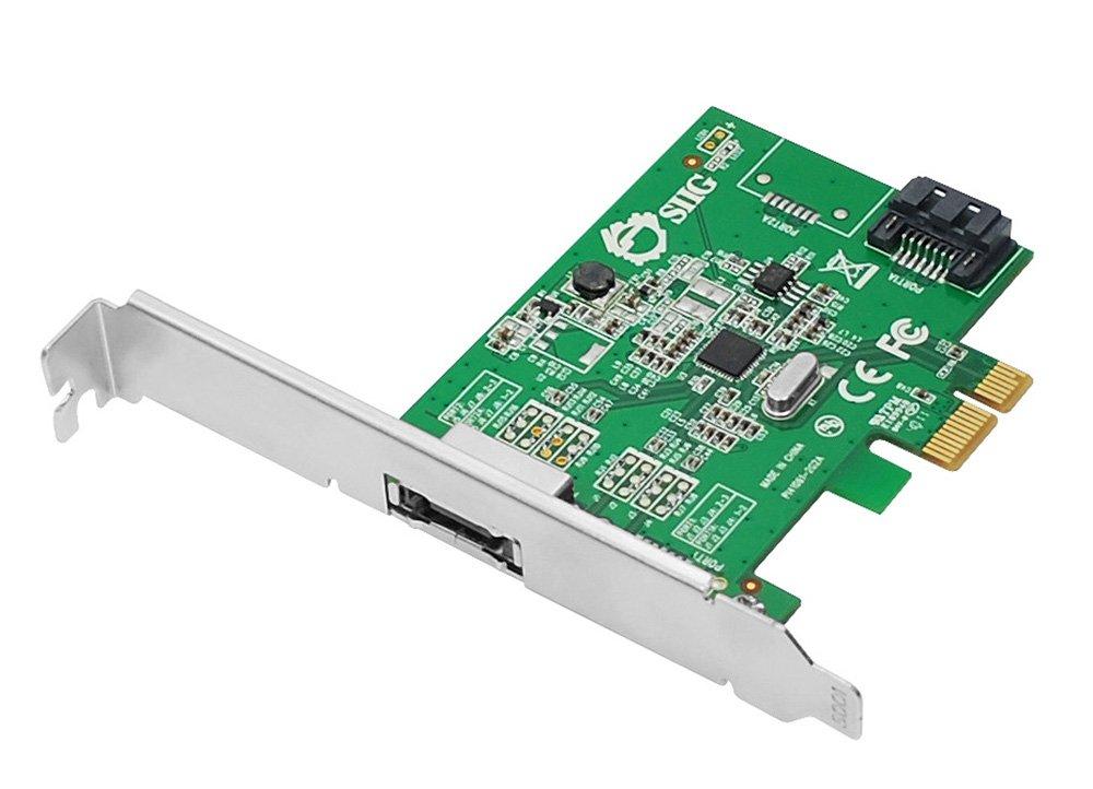 SIIG DP eSATA 6Gb/s 2-Port PCIe i/e Host Adapter (SC-SA0N11-