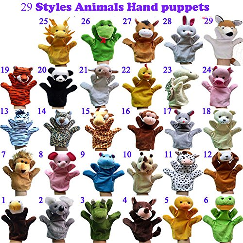 ZhinderLand Wholesale Preschool Kindergarten Velour Animal Hand Puppets Kids Toy (29 pcs)