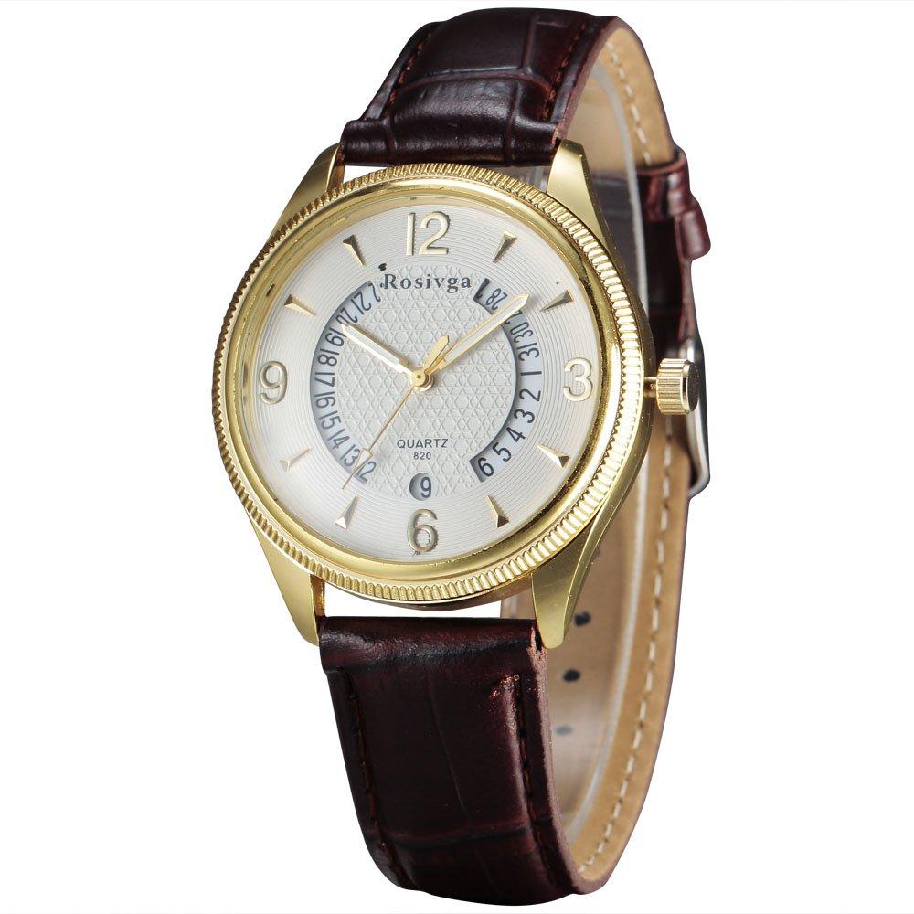 ROSIVGAメンズドレススタイルシンプルなダイヤルデザインクオーツ腕時計 2# B071HP9H9Y 2# 2#