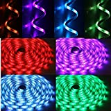 Tingkam® Waterproof 5M 5050 SMD RGB Led Strips Lighting Full Kit with 44 Key IR Remote Controller for Home Kitchen Cabinet TV Lighting Decoration Bild 5