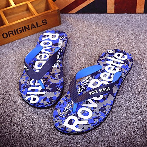 Summer The Camouflage Foot Slippers Wear Trend That Fashion Soft 44 Drag The Blue Male fankou Cool Slippers Non and Slip Beach and Grip Students 0f6qBWx