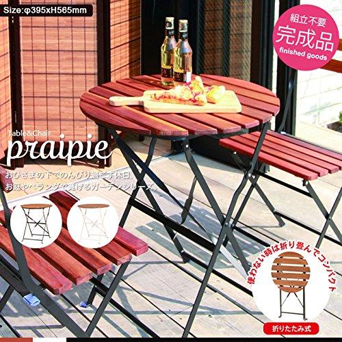 テーブル 折りたたみ ハイテーブル 木製 ガーデンファニチャー 家具 ガーデン 北欧 おしゃれ B079DPXFR4  ブラック