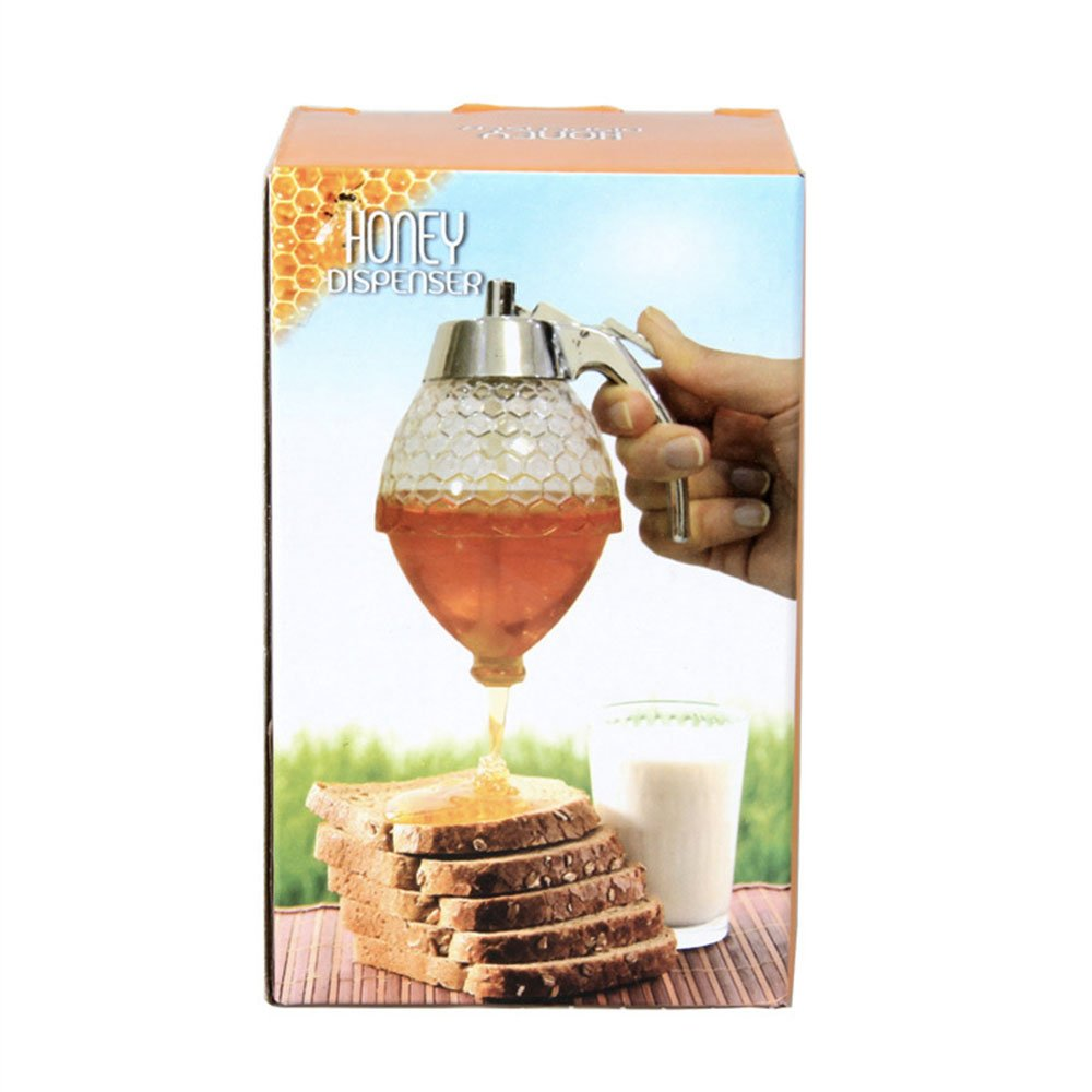 Honey Dispenser Syrup Squeezer Juice Honey Syrup Dispenser,Shatter Proof, BPA Free,Kids Friendly