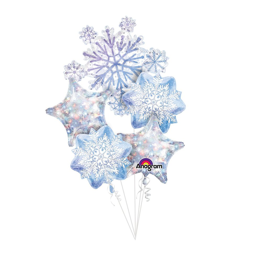 Glistening Snowflakes Balloon Bouquet Mayflower