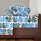 Roostery Tiki 4pc Sheet Set Breadfruit 3E by Muhlenkott Queen Sheet Set made with