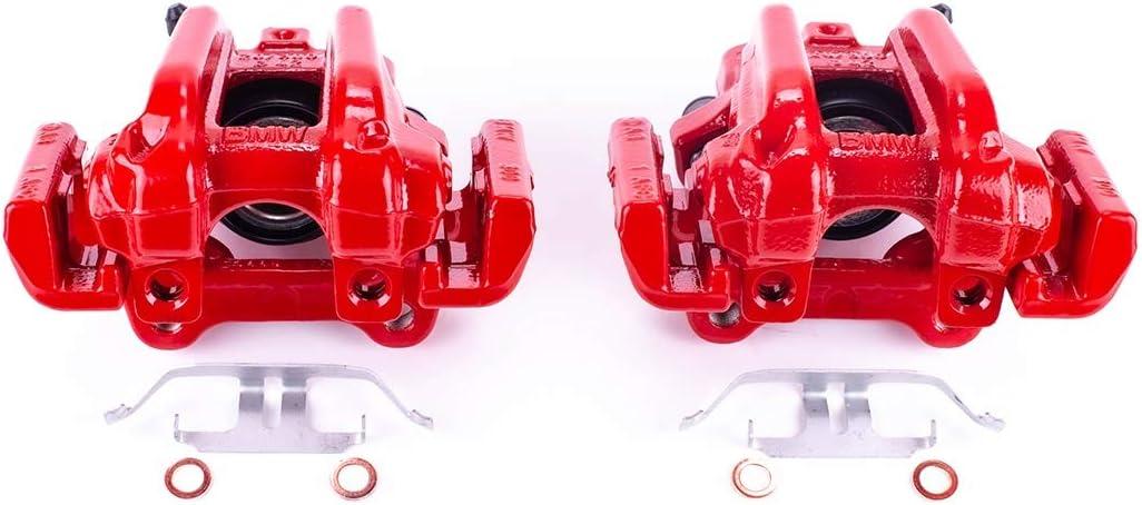 Power Stop S7110 Powder Coated Rear Performance Brake Caliper Pair