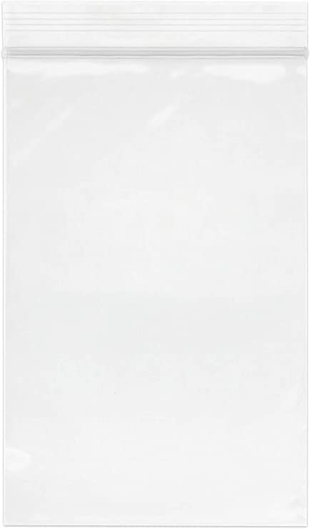 """300 x 5.5/"""" x 5.5/""""  *WHITE PANEL* Grip Seal Bags Zip Resealable Poly Bags"""