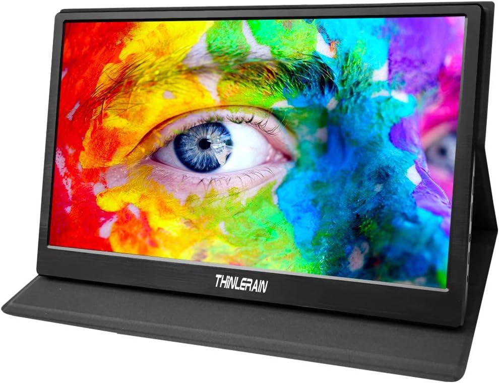 Thinlerain - 15,6 Pulgadas Monitor Prtátil HDMI 1920 x 1080P IPS Monitor con Micro USB Powered para Laptop, Mac, Computadora, Xbox One, Raspberry pi, PS3 PS4, Altavoces Integrados: Amazon.es: Electrónica