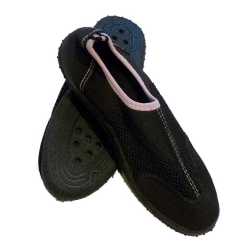 [Beach Socks] ビーチソックスレディースブラックピンクアクアソックス水靴ビーチ 10 B(M) US  B0089N3FPW