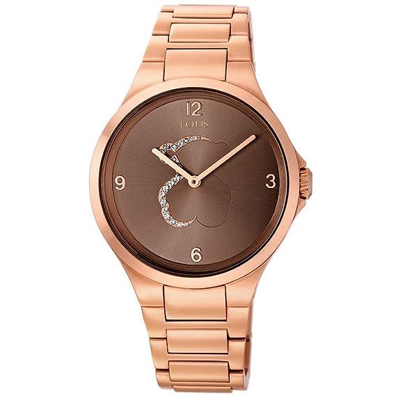Reloj tous Motion de acero IP rosado con cristales transparentes: Amazon.es: Relojes