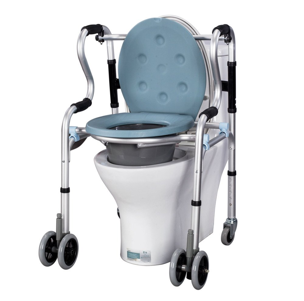 Amazon.com: Commode Chair and Padded Toilet Seat, Shower Chair with ...