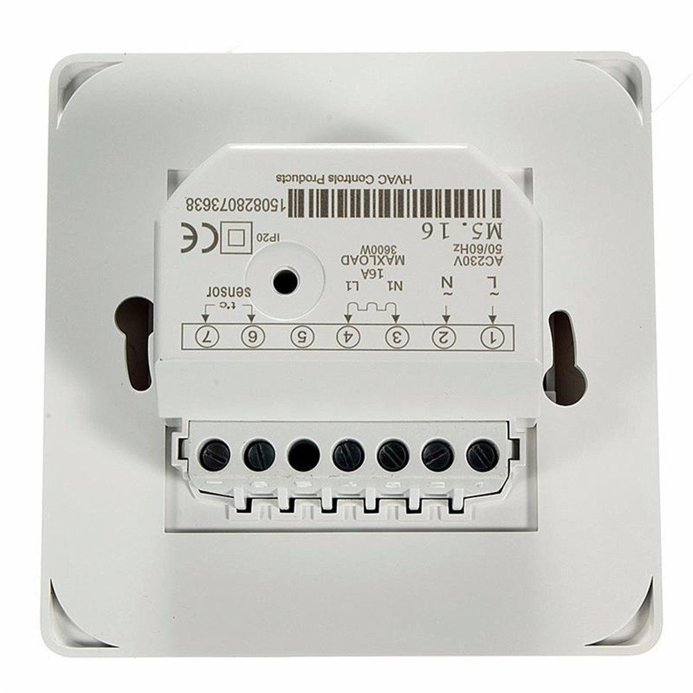 Room Premium Underfloor Heating Air Conditioning Thermostat Temperature Control Switch 16 A 230 V White