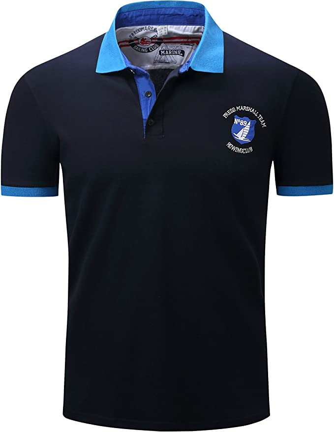 LEOCLOTHO Polo T-Shirt Homme Coton Casual