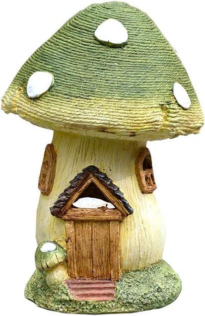 Figura Decorativa para jardín,Estatuilla De La Casa De Setas De Simulación Estatua De Jardín De Resina Impermeable Para Regalo De Decoración De Césped De Jardín - 30 * 29 * 40 Cm
