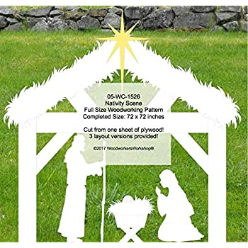 Nativity Scene Paper Woodworking Plan - Holiday Woodworking Project Plans - Amazon.com