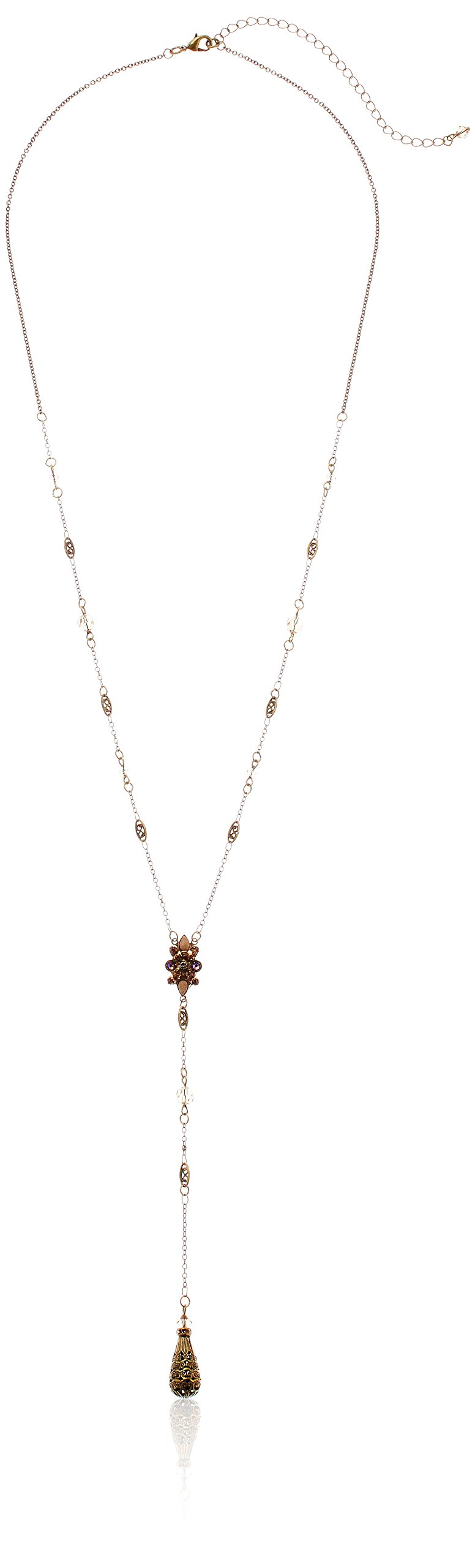 Sorrelli Core Antique Gold Tone Neutral Territory Celestial Filigree Y-Shaped Necklace by Sorrelli