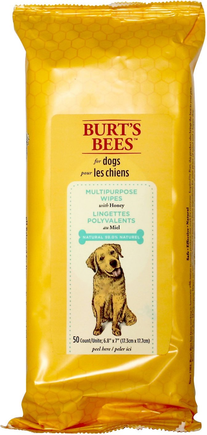 Burt's Bees for Dogs Multipurpose Grooming | Best Wet Grooming Wipes for All Dogs and Puppies