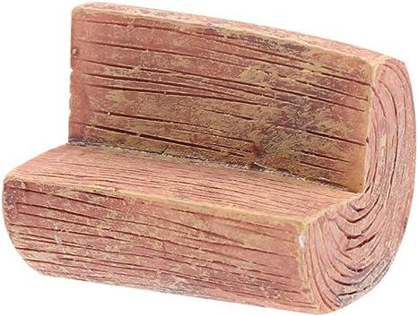 SUPVOX Banco De Madera De Miniatura Mini Ornamento De Madera DIY Planta De Artesania para Decoración De Hogar Adorno De Jardin: Amazon.es: Hogar
