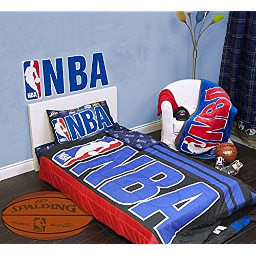 Exclusive NBA Basket Ball Collection 4 Pcs Twin Comforter Quilt U0026 Sheet Set  Official Licensed New