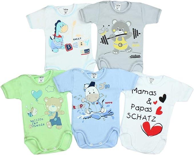 TupTam Baby Boys Bodysuits Sleeveless Plain Pack of 5