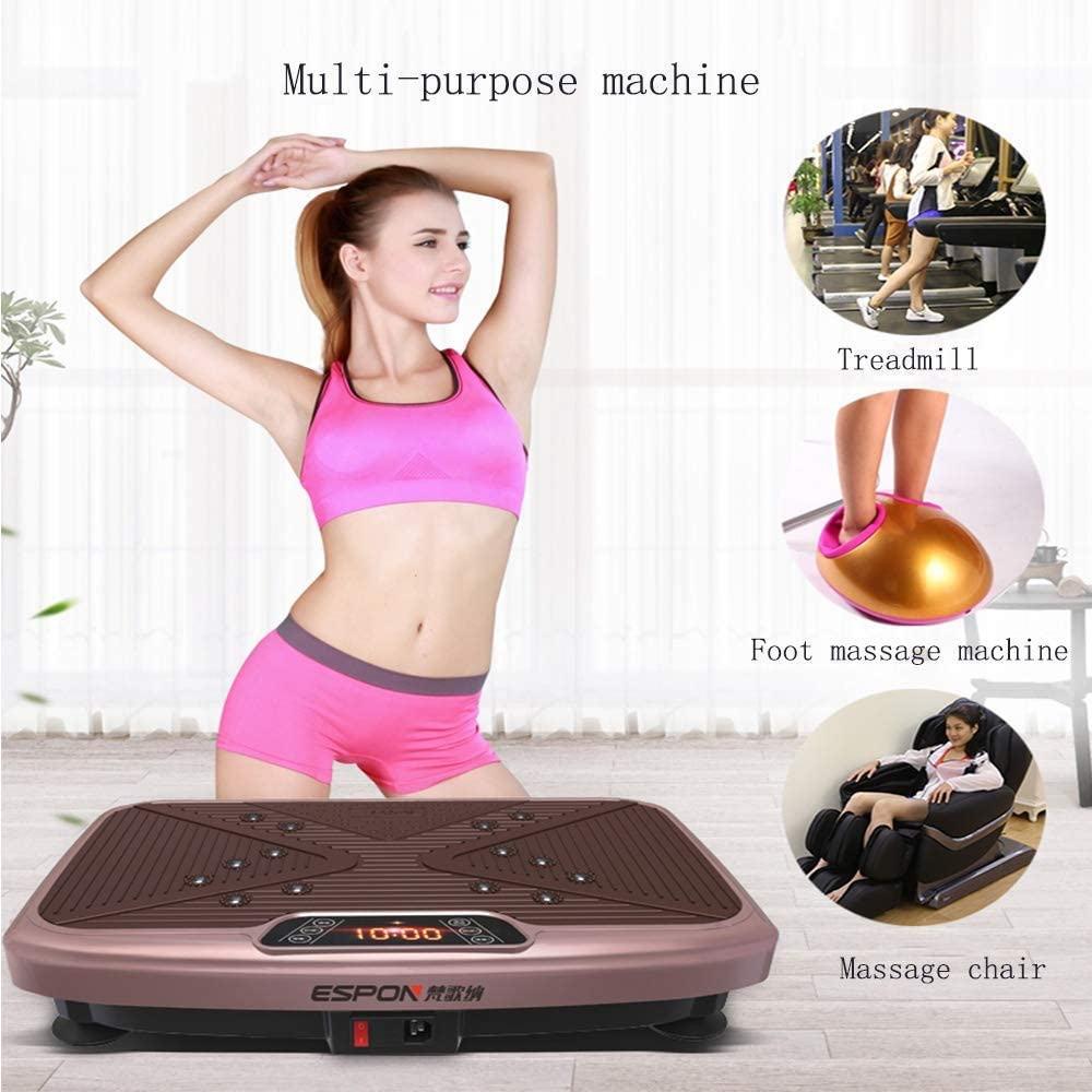 Smart Slimming Vibration Platform Machinesi OEwith Remote Control Shiatsu Massage Magnet Massage 3 Large Earthquake Zone 99 Gear Adjustment for Home Weight Loss Machine kyman