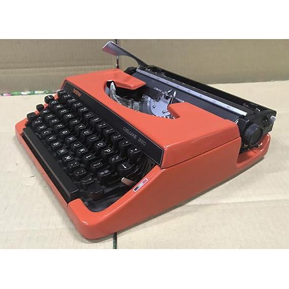 Máquina de escribir modelo, modelo Vintage Mecánica Vintage Vintage años 70: Amazon.es: Hogar