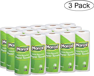 product image for Marcal Paper Towels 100% Recycled 2-Ply, 60 Sheets Per Roll - Case of 15 Individually Wrapped Green Seal Certified 06709 (White, Thrее Расk)
