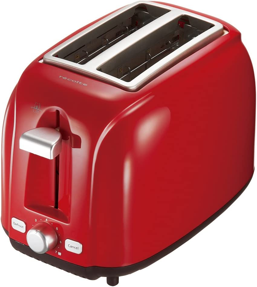 """Recolte POP UP TOASTER """"Matin"""" RPT-1R (Gloss Red)?Japan Domestic genuine products?"""