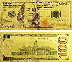 100 Dollar Bills Antique Plated Gold Coin Fake Money Commemorative Notes
