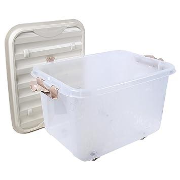 Multipurpose Storage Box With Lid U0026 Wheels   50 Litres Storage Box