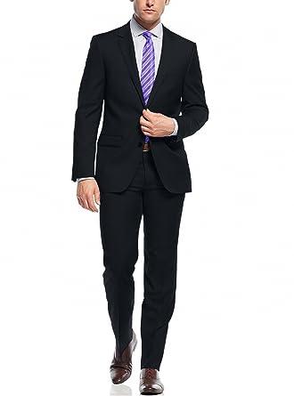 Amazon.com: nicoletti Dos botón Slim Fit traje de para ...