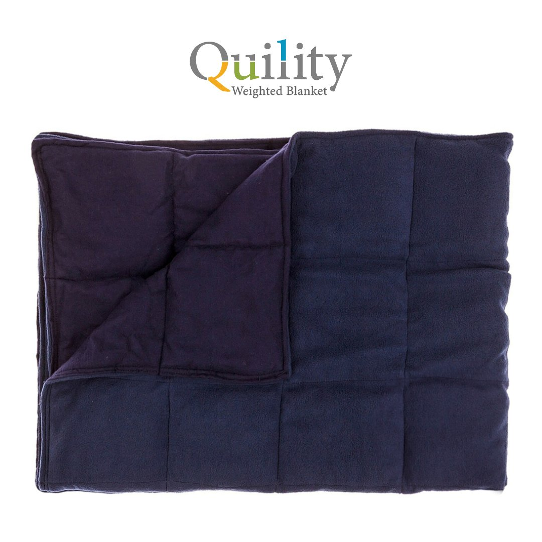 "Premium Weighted Blanket for Kids by InYard | 10 lbs | 41""x60"" (for a child between 70-90 lbs) 