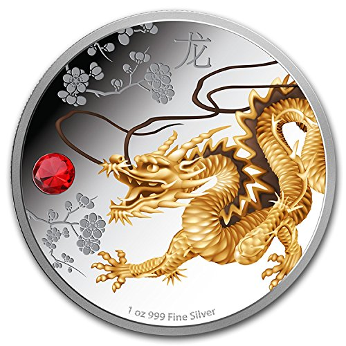 2015 NZ Niue 1 oz Silver $2 Feng Shui Dragon (w/Box & COA) 1 OZ Brilliant - Online Sale Nz
