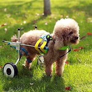 Ajustable para silla de ruedas para extra pequeño perro (XXS), cadera altura: 20 cm, 28 cm, peso 0 A 5 kg, patas traseras rehabilitación