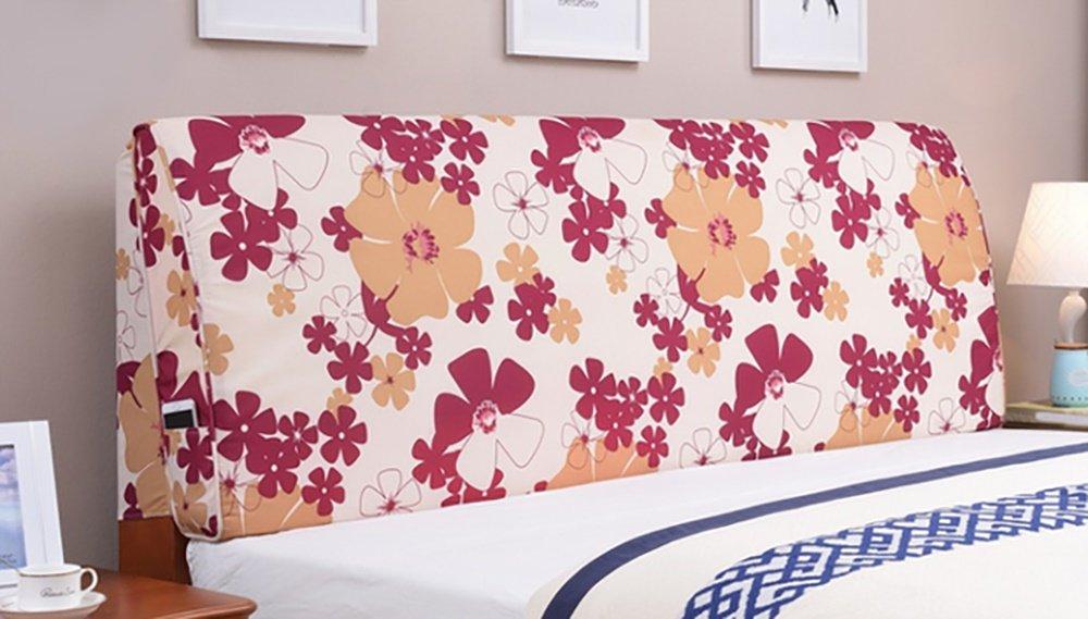 LQQGXL,Cushion, Continental minimalist bedside cushions large backrest solid wood bed soft bag bedspread double detachable washable back cushion ( Color : D , Size : 120cm10cm55cm ) by LQQGXL (Image #2)