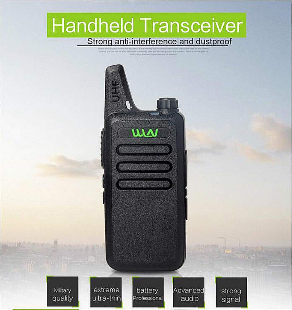 Xixou 1pc Wireless Portable Device WLN KD-C1 Small walkie-Talkie UHF400-470 MHz Communication walkie-Talkie Handheld CB HF Amateur Radio transceiver (1pc) by Xixou (Image #6)
