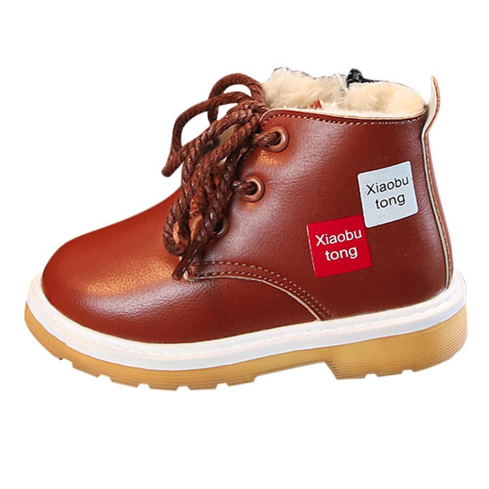 Kinrui Baby Shoes DRESS ユニセックスベビー B07J5JPRR6  ブラウン 5.5-6 Years