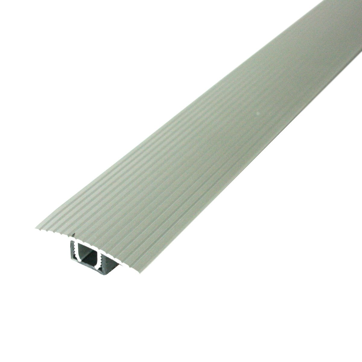 M-D Building Products Cinch T-Molding w/SnapTrack (Fluted) 36'' Satin Silver Satin Silver