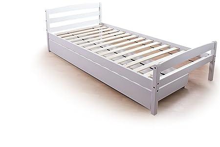 White Underbed Storage Drawer 3ft Single Bed Frame  sc 1 st  Amazon UK & White Underbed Storage Drawer 3ft Single Bed Frame: Amazon.co.uk ...