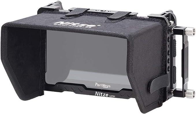"BM5-KIT Nitze Monitor Cage for Portkeys BM5 5/"" //BM5 II 5.2/"" with Sunhood and Monitor Holder Mount"