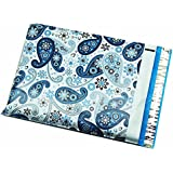 "100 10x13 Blue Paisley Poly Mailers Shipping Envelopes Bags 10"" x 13"" By ValueMailers …"