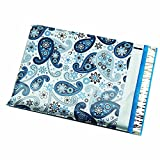 100 10x13 Blue Paisley Poly Mailers Shipping Envelopes Bags 10'' x 13'' By ValueMailers …