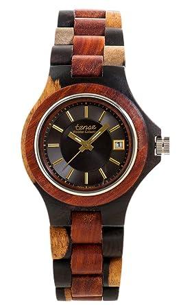 0f74bccbbc2 Amazon.com  Tense Men s Metro Watch in Dark Dual Tone Sandalwood ...