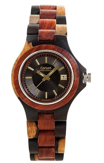 Tense Hombres del metro reloj en oscuro doble tono sándalo g4302idm-bg