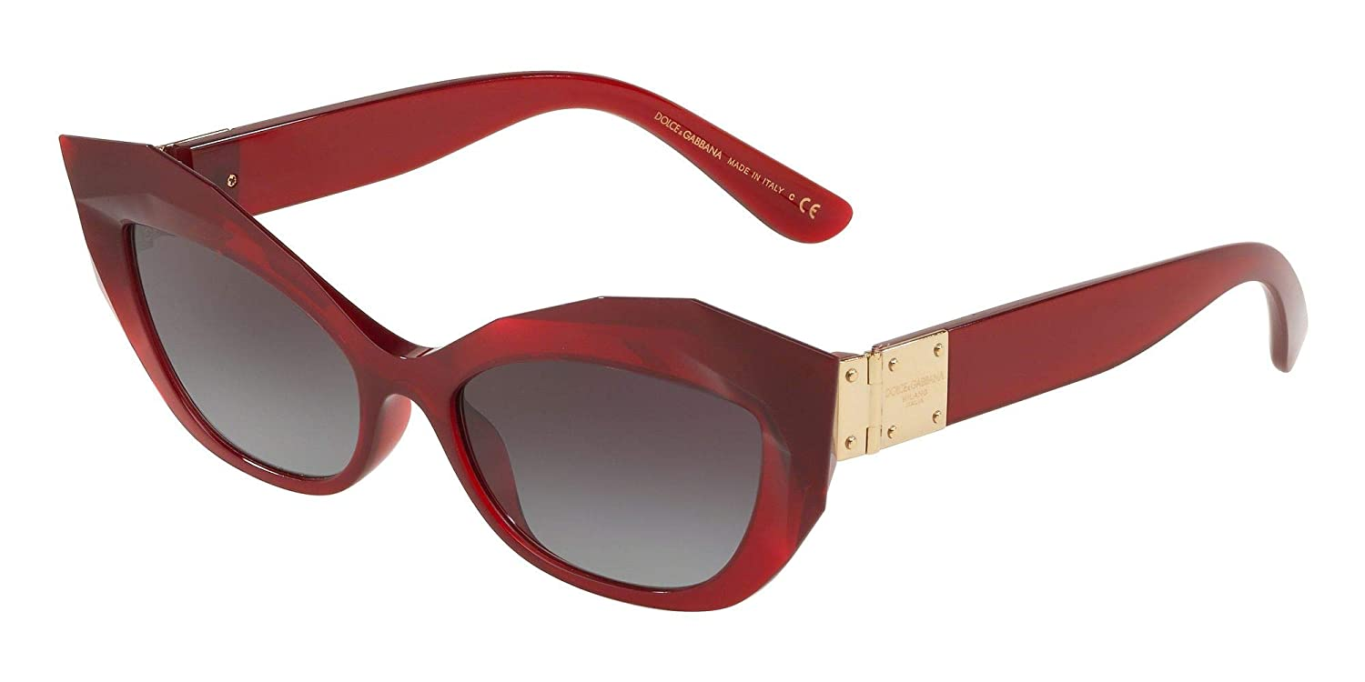 6bf0a8bec11e Amazon.com  Dolce and Gabbana DG6123 15518G Crystal Red DG6123 Cats Eyes  Sunglasses Lens  Dolce and Gabbana  Clothing