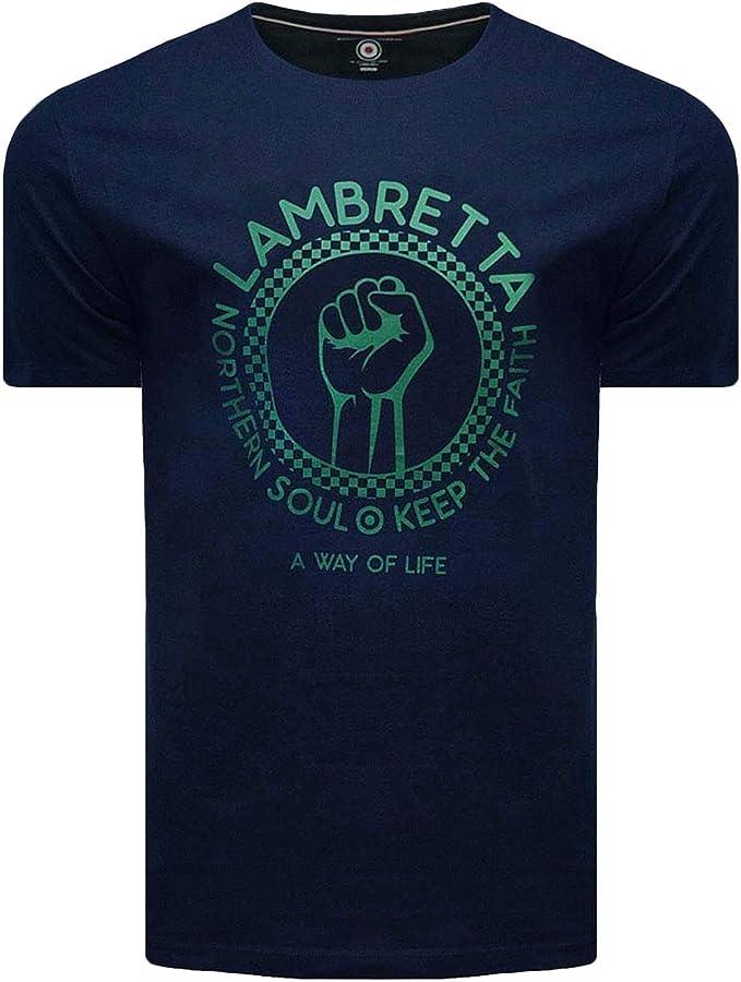 Lambretta Northern Soul Keep The Faith - Camiseta informal para hombre: Amazon.es: Ropa y accesorios
