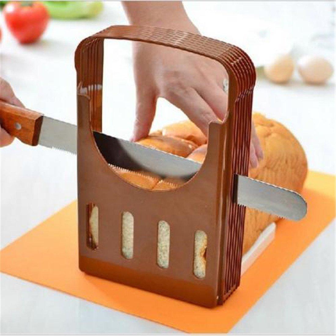 CanVivi kreative Brotschneider Brotbretter verstellbare Brot Schneiden Hilfswerkzeug Allesschneider