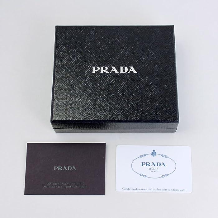 a70be234450 Amazon.com  Prada Men s Saffiano Leather Bi-fold Wallet 2MO513 Nero+ ...